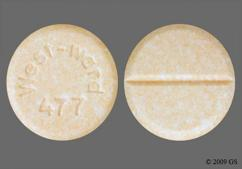 Peach Round Tablet West-Ward 477 - Prednisone 20mg Tablet