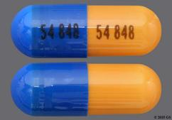 Blue And Brown Capsule 54 848 54 848 - Mycophenolate Mofetil 250mg Capsule