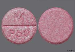 Pink Round Chewable Tablet M P50 - Phenytoin 50mg Chewable Tablet