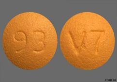 Orange Round 93 And V7 - Quetiapine Fumarate 25mg Tablet