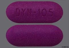 Purple Oblong Tablet Dyn-105 - Solodyn 105mg Extended-Release Tablet