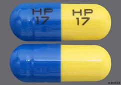 Yellow And Blue Capsule Hp 17 Hp 17 - Tetracycline Hydrochloride 250mg Capsule