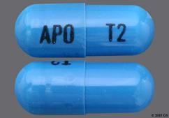Blue Capsule Apo T2 - Tizanidine Hydrochloride 2mg Capsule