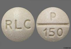 Beige Round Tablet Rlc And P 150 - WP Thyroid 97.5mg Tablet