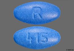 Blue Oval Tablet 415 And R - Amlodipine Besylate/Atorvastatin Calcium 10mg-20mg Tablet