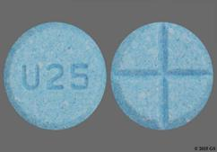 Blue Round Tablet U25 - Amphetamine/Dextroamphetamine Salts 5mg Tablet