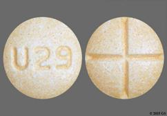 Orange Round Tablet U29 - Amphetamine/Dextroamphetamine Salts 15mg Tablet