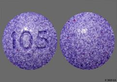 Purple Round 105 - Fluoride 0.5mg Chewable Tablet