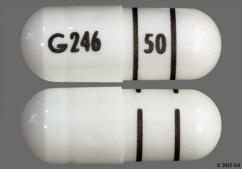 White Capsule G246 50 - Fenofibrate 50mg Capsule