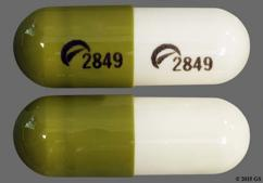 White And Green Capsule Logo 2849 Logo 2849 - Fluvoxamine Maleate 150mg Extended-Release Capsule