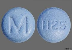 Blue Round Tablet H25 And M - Hydroxyzine Hydrochloride 25mg Tablet
