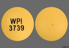 Yellow Round Wpi 3739 - Hydromorphone Hydrochloride 12mg Extended-Release Tablet