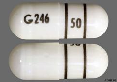 White Capsule G246 50 - Lipofen 50mg Capsule