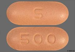 Pink Oblong S And 500 - Niacin 500mg Extended-Release Tablet