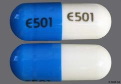 Blue And White E501 E501 - Nicardipine Hydrochloride 20mg Capsule
