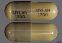 Gray Capsule Mylan 1700 Mylan 1700 - Nitrofurantoin (Macrocrystalline) 100mg Capsule