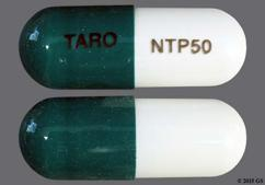 Green And White Capsule Taro Ntp50 - Nortriptyline Hydrochloride 50mg Capsule