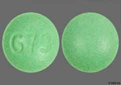 Green Round Tablet G73 - Oxymorphone Hydrochloride 20mg Extended-Release Tablet