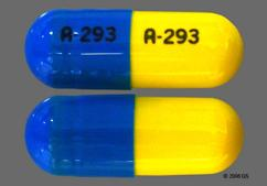 Blue And Yellow Capsule A-293 A-293 - Trimipramine Maleate 25mg Capsule