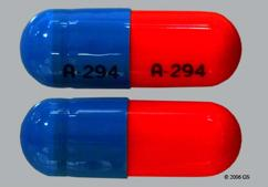 Blue And Orange Capsule A-294 A-294 - Trimipramine Maleate 50mg Capsule