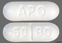 White Oblong Apo And So 80 - Sotalol Hydrochloride 80mg Tablet