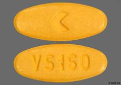Orange Oval Logo And Vs 160 - Valsartan 160mg Tablet