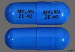Blue Capsule Mylan Ze 40 Mylan Ze 40 - Ziprasidone Hydrochloride 40mg Capsule