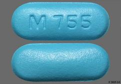 Blue Oblong Tablet M 755 - Fexofenadine Hydrochloride 180mg Tablet