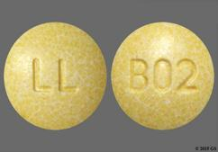 Yellow Round 10, Ll, Lupin, And B02 - Lisinopril/Hydrochlorothiazide 20mg-12.5mg Tablet