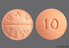 Orange Round Tablet 10 And Dan 5554 - Propranolol Hydrochloride 10mg Tablet