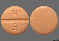Peach Round Tablet H 3 - Hydrochlorothiazide 50mg Tablet