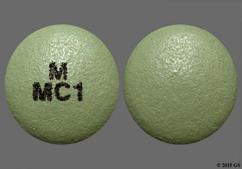 Green Round Tablet M Mc1 - Mycophenolic Acid 180mg Delayed-Release Tablet