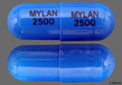 Blue Capsule Mylan 2500 Mylan 2500 - Tamsulosin Hydrochloride 0.4mg Capsule
