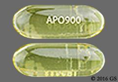 Yellow Capsule Apo900 - Omega-3-Acid Ethyl Esters 1g Softgel Capsule