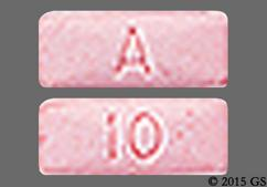 Pink Rectangular Tablet A And 10 - Aripiprazole 10mg Tablet