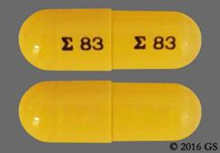 Yellow E 83 E 83 - Acitretin 25mg Capsule