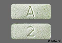 Green Rectangular Tablet A And 2 - Aripiprazole 2mg Tablet