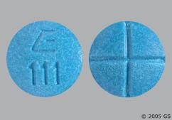 Blue Round Tablet E 111 - Amphetamine/Dextroamphetamine Salts 10mg Tablet