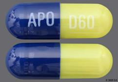 Blue And Green Capsule Apo D60 - Duloxetine 60mg Delayed-Release Capsule