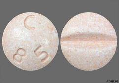 Peach Round C 85 - Fosinopril Sodium/Hydrochlorothiazide 20mg-12.5mg Tablet