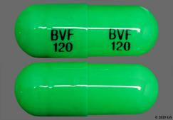 Green Capsule Bvf 120 Bvf 120 - Diltiazem Hydrochloride 120mg Extended-Release Capsule