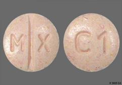 Peach Round C1 And M X - Candesartan Cilexetil/Hydrochlorothiazide 16mg-12.5mg Tablet