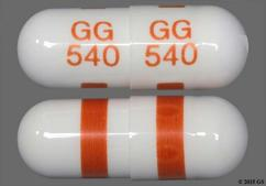 White Capsule Gg 540 Gg 540 - Fluoxetine Hydrochloride 40mg Capsule