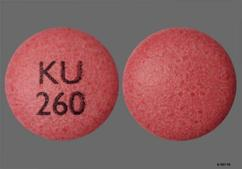 Pink Round Tablet Ku 260 - Nifedipine 30mg Extended-Release Tablet