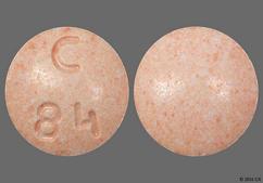 Peach Round Tablet C 84 - Fosinopril Sodium/Hydrochlorothiazide 10mg-12.5mg Tablet
