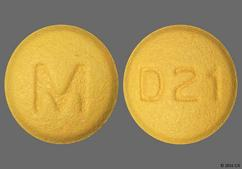 Yellow Round Tablet D21 And M - Doxycycline 50mg Tablet