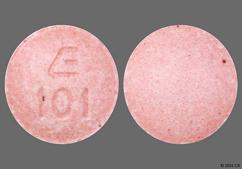 Pink Round Tablet E 101 - Lisinopril 10mg Tablet