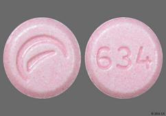 Pink Round Tablet Logo And 634 - Lovastatin 20mg Tablet