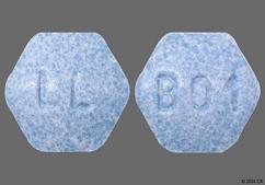 Blue Hexagon Tablet B01, 123, Lupin, And Ll - Lisinopril/Hydrochlorothiazide 10mg-12.5mg Tablet