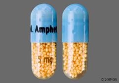 Blue Capsule M. Amphet Salts 5 Mg - Amphetamine/Dextroamphetamine Salts 5mg Extended-Release Capsule